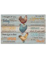 Chicken I Though Of You Today And Yesterday Meaningful Gift Horizontal Poster