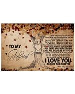 To My Girlfriend I Love You Forever And Always Gifts From Boyfriend Horizontal Poster