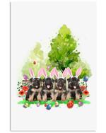 Bunny Easter Lovely German Shepherd Custom Design Vertical Poster