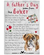 A Father's Day Poem From The Boxer Gift For Dog Lovers Vertical Poster