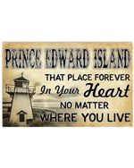 Prince Edward Island In Your Heart No Matter Where You Live Horizontal Poster