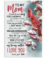 You Will Always Be My Loving Mother Lovely Message From Son Gifts For Mom Vertical Poster