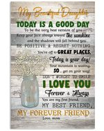 I Love You Forever And Always Lovely Message From Mom Gifts For Daughter Vertical Poster