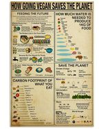 How Going Vegan Saves The Planet Gifts For Vegan Lovers Vertical Poster