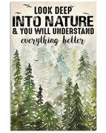 Look Deep Into Nature And You Will Understand Everything Better Vertical Poster