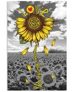 Sunflower You Are My Sunshine Love Simple Custom Design Vertical Poster