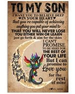 To My Son I Can Promise To Love You For The Rest Of Mine Vertical Poster