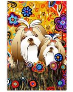 Lovely Shih Tzu Phone Case Great Gift For Shih Tzu Lovers Vertical Poster