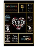 Vintage Nurse Love Sunflower Trending Personalized Career Gifts Vertical Poster