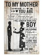 Son To Mother With Love Trending For Family Vertical Poster
