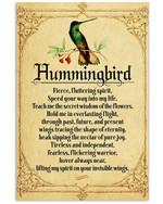 Hummingbird Fierce Fluttering Spirit Speed Your Way Into My Life Vertical Poster