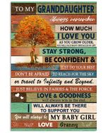 Always Remember How Much I Love You Quote Gift For Granddaughter From Granny Vertical Poster