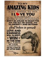 To My Amazing Kids Love And Kindness Will Always Win Custom Design Vertical Poster