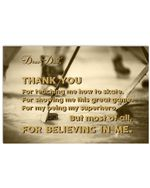 Thank You For Believing In Me Lovely Message Gifts For Dad Horizontal Poster
