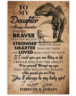 To My Daughter I Love You Forever And Always Gifts From Dad Vertical Poster