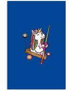 Billard Unicorn Hustler Pool Funny Gift For Friends Who Loves Billard Vertical Poster