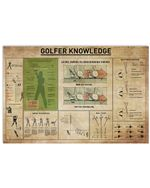 Golfer Knowledge Gifts For Golfing Lovers Horizontal Poster