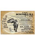 A Mon Incroyable Fils N'oublie Jamais Combien Je T'ainme Horizontal Poster