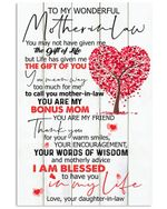 Daughter In Law Gifts For Mother In Law Heart Tree Nice Gifts Vertical Poster