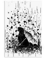 Golden Under The Rain Great Gift For Dog Lovers Vertical Poster