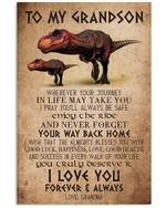 T-rex Grandma To Grandson Trending For Family Vertical Poster