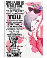 Laugh Love Live Follow Your Dreams Cutest Flamingo Gifts Vertical Poster