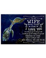 Never Forget That I Love You Lovely Message From Husband Gifts For Wife Horizontal Poster