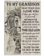 Grandpa Gifts For Grandson Never Forget That I Love You Vertical Poster