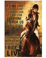 I Ride To Connect My Soul And Live Vertical Poster