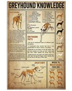 Greyhound Knowledge Gifts For Dog Lovers Vertical Poster