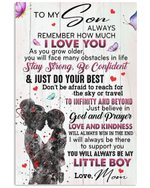 To My Son You Will Always Be My Little Boy Gifts From Mom Vertical Poster