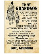Believe In Yourself As Much As Believe In You Best Gift For Grandson Vertical Poster