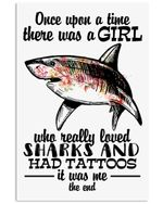 I'm A Girl Who Love Sharks And Has Tattoos Vertical Poster