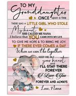 I Love You Forever And Always Quote Gift For Granddaughter From Nana Vertical Poster
