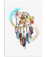 Giraffe Dreamcatcher Creative Special Unique Custom Design Vertical Poster