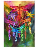 Special Style Dragonfly Dream Catcher Custom Design Vertical Poster
