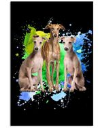 Greyhound Colorful Unique Custom Design For Dog Lovers Vertical Poster