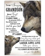 Never Forget How Much I Love You Quote Gift For Grandson From Grandmother Vertical Poster