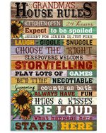 Grandma House Rules Gifts For Family Vertical Poster