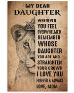 I Love You Forever And Always Quote Gift For Daughter Vertical Poster