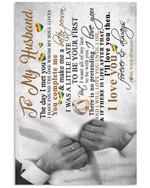 Message To Husband Custom Design For Lgbt Vertical Poster