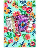 The Blooming Flower Garden Gifts For Accordion Players Vertical Poster