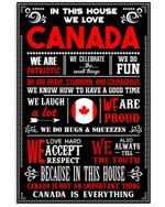 In This House We Love Canada Custom Design Personalized Nation Gifts Vertical Poster