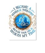 I Became A Massage Therapist Gifts For Massage Therapist Peel & Stick Poster