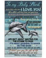 To My Baby Shark Life Gave Me The Gift Of You Gifts From Dad Vertical Poster