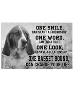Basset Hound One Basset Can Change Your Life For Dog Lovers Horizontal Poster