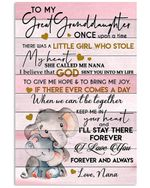 To My Great Granddaughter Once Upon A Time There Was A Little Girl Gifts Vertical Poster