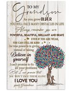 You Won't Face Them Alone Quote Gift For Grandson Vertical Poster