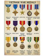 Vietnam War Medals Great Gift For Vietnam Veteran Vertical Poster