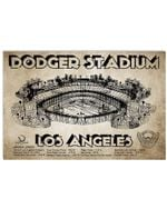 Dodger Stadium Los Angeles Gifts For Baseball Lovers Horizontal Poster